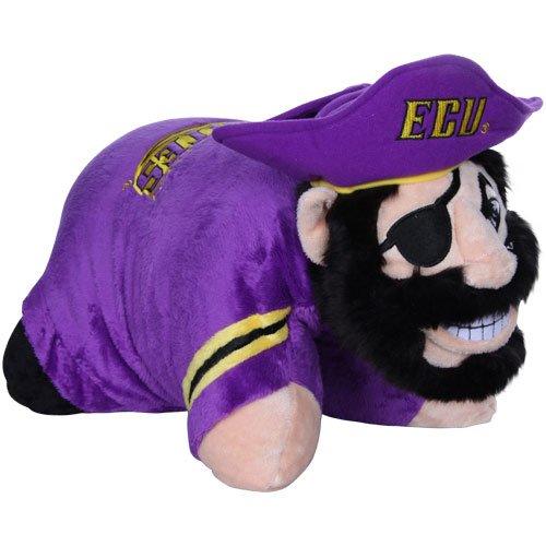 Fabrique Innovations NCAA Pillow Pet, East Carolina Pirates (East Carolina Pirates Pillow)