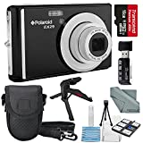 Polaroid iEX29 18MP 10x Digital Camera (Black) and Accessory Bundle W/16GB + Card Reader + Case + Xpix Tripod + Fiberitque Cleaning Cloth + Deluxe Starters Kit