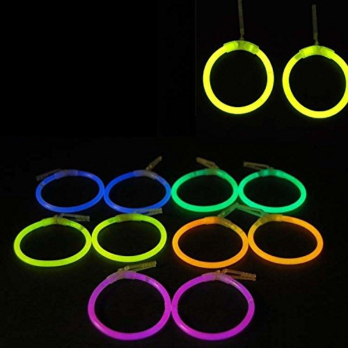 Set of 12 ASSORTED Glow Stick Earrings Light Up LED Wedding Party Favors Jewelry