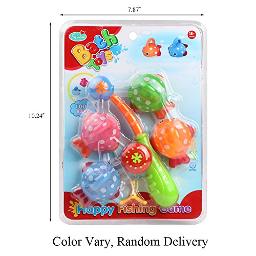 Fajiabao bath toy fishing game with 4 cute floating fishes for Fishing games for girls