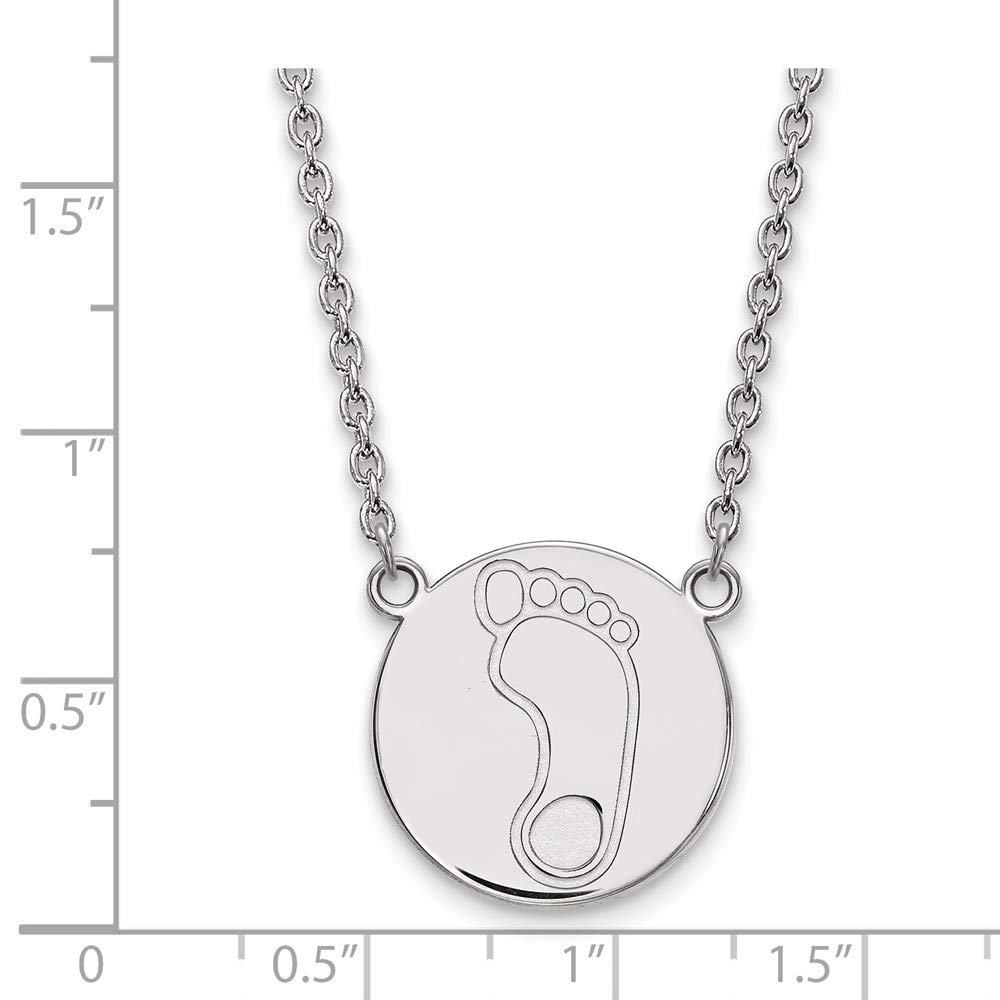 Collegiate University of North Carolina Sterling Silver LogoArt University of North Carolina Large Disc with Necklace