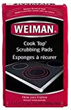 DistiKem(TM) WEIMAN Cook Top Scrubbing Pad 3-Pack model 45 wont scratch removes burnt on food