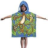 Kids Monkey Cotton Hooded Poncho Bath/Beach Towel