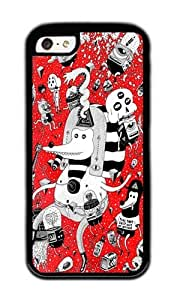 Apple Iphone 5C Case,WENJORS Personalized rot zeichentusche Soft Case Protective Shell Cell Phone Cover For Apple Iphone 5C - TPU Black
