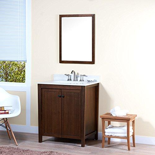 MAYKKE Nessa 30 Inch Bathroom Vanity Set in Birch Wood Am...