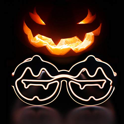 YinStore Halloween Pumpkin Face Fashion Party Costume Novelty Glasses Halloween Masquerade Cosplay Makeup Party Halloween Children's Party Decoration (Orange)