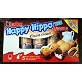 Kinder Happy Hippo COCOA CREAM Biscuits 5 count boxes (PACK OF 10)