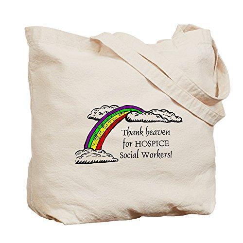 CafePress–gracias cielo Hospicio–Gamuza de bolsa de lona bolsa, bolsa de la compra