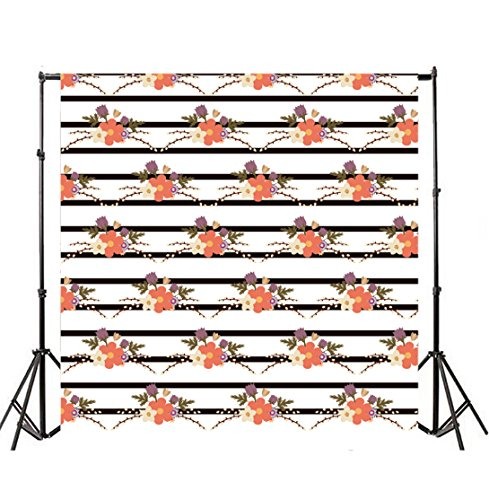 Leyiyi 4x4ft Photography Backgroud Wedding Ceremony Backdrop Happy Valentine's Day Flora Abstract Stripes Rustic Western Marriage SPA Party Bridal Shower Birthday Photo Portrait Vinyl Studio Prop