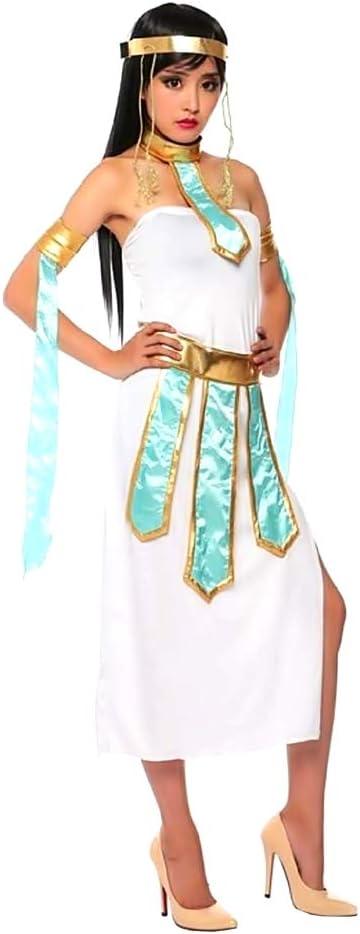 KIRALOVE Disfraz de Cleopatra - Egipcio - Blanco - Dorado ...