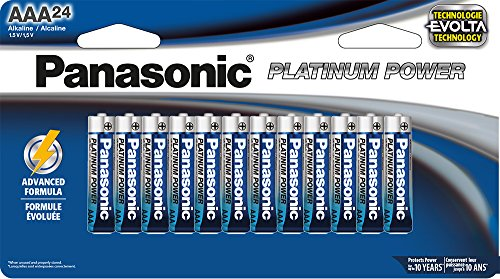 Panasonic Energy Corporation LR03XE/24B Platinum Power AAA Alkaline Batteries, Pack of 24