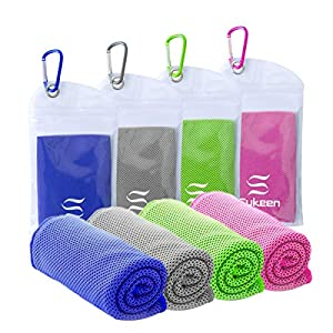 """Well-Being-Matters 51B-PMkkZdL._SS300_ Cooling Towel(40""""x12"""") Microfiber Cool Towel,Soft Breathable Chilly Towel for Yoga, Golf, Gym, Camping, Running, Workout & More Activities"""