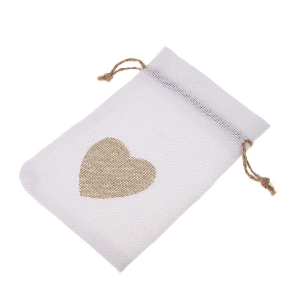 Beige Baoblaze 10 Sacchetti Coulisse Iuta Sacchettini Portaconfetti Bomboniere Per Matrimonio Compleanno Battesimo Comunione Pasqua