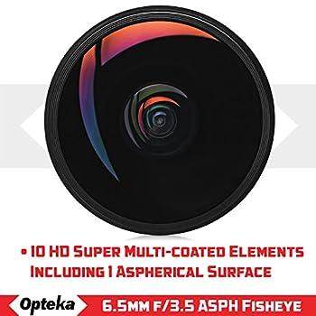 Opteka 6.5mm F3.5 Hd Aspherical Fisheye Lens & Removable Hood For Canon Eos 80d, 77d, 70d, 60d, 60da, 50d, 7d, T7i, T7s, T7, T6s, T6i, T6, T5i, T5, Sl2 & Sl1 Digital Slr Cameras 12
