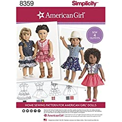 "SIMPLICITY 8359 18"" American Girl Doll Clothes SEWING PATTERN"