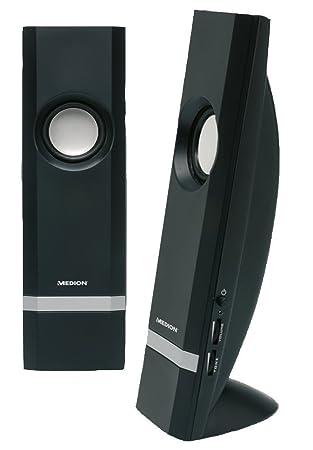 MEDION Altavoces estéreo Multimedia para Ordenador de sobremesa PC portátil 2 x 5 W - Negro: Amazon.es: Informática