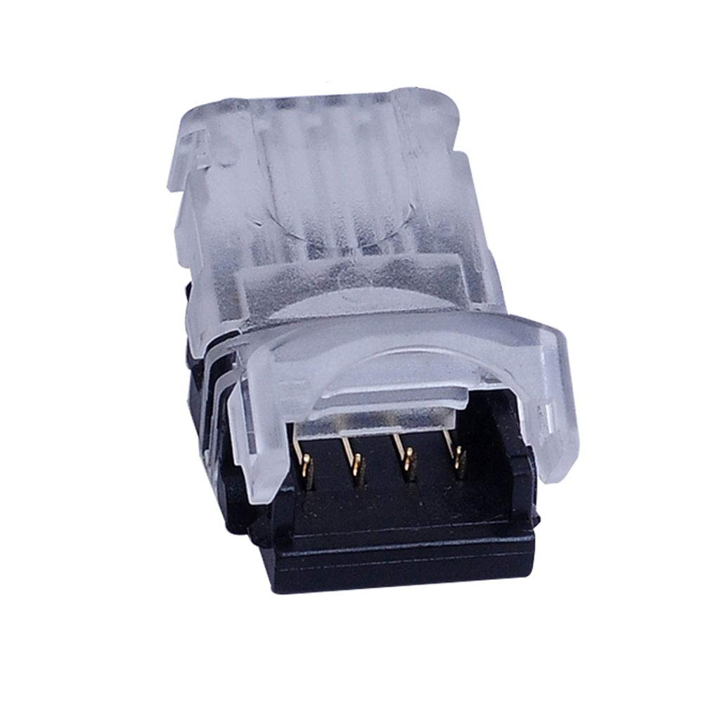 LED Connector 4 Pin for 5050 RGB Waterproof LED Strip Lights- Strip to Wire Quick Connection, 22-20 AWG Wire No Stripping (Pack of 20)