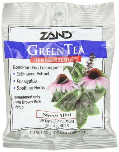 Zand HerbaLozenge, Green Tea Sweet Mint, 15 Count (Pack of 3) (Tea Lozenge Herbal Green)