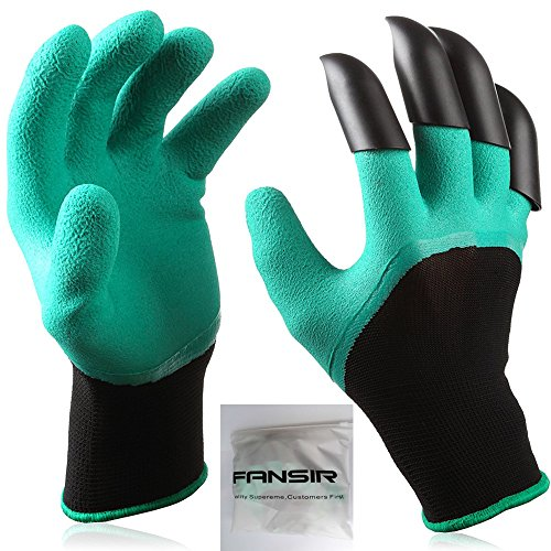 Garden Gloves with Fingertips Claws Quick- Great for Digging Weeding Seeding poking -Safe for Rose Pruning -Best Gardening Tool -Best Gift for Gardeners (Single Claw) (Single Claw)]()