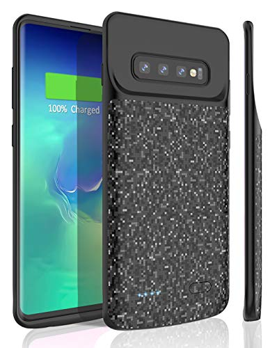 (Galaxy S10 Battery Case, STOON 4700mAh Portable Charger Case Rechargeable Extended Battery Pack Protective Backup Charging Case Cover for Samsung Galaxy S10)