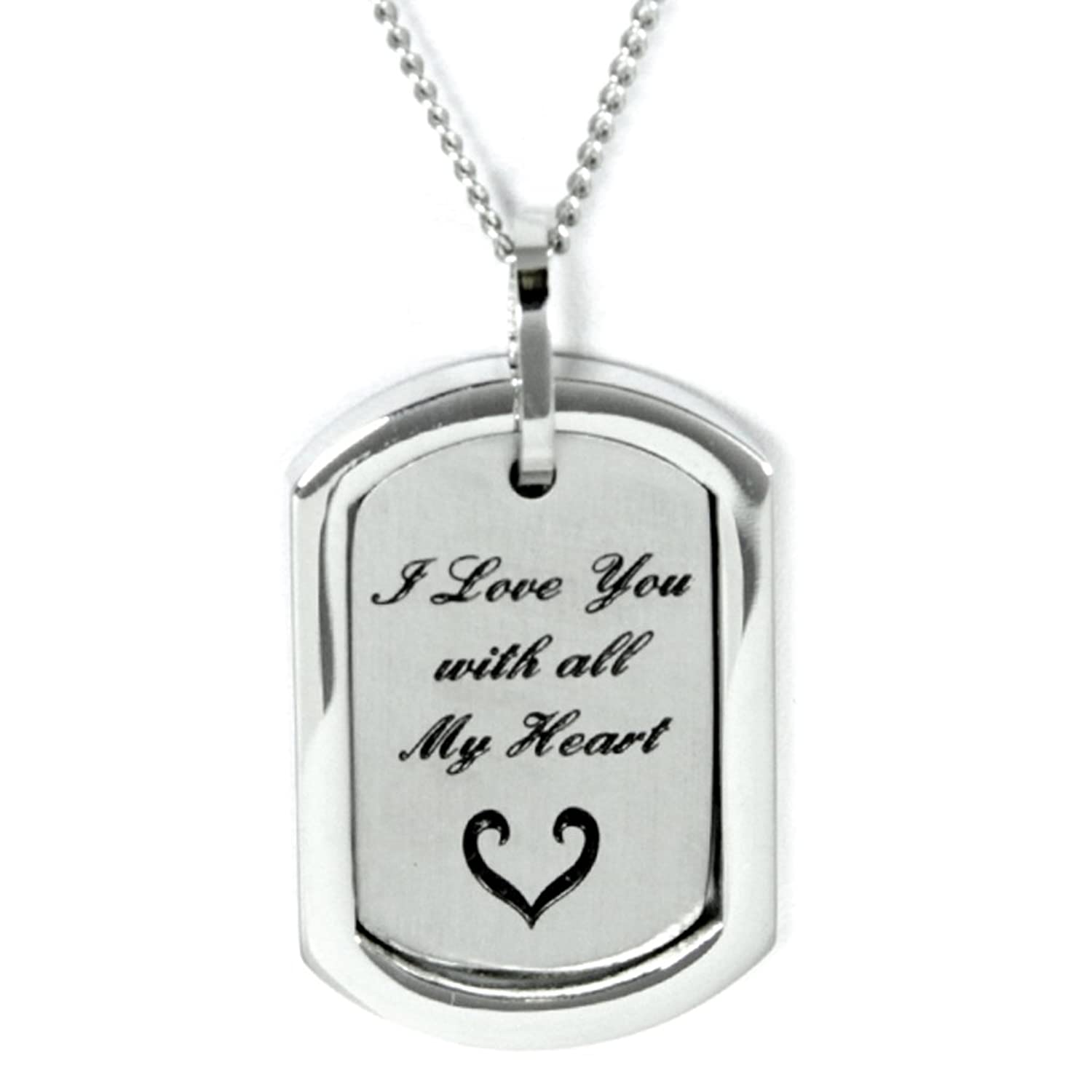 only love one silver girl couples wife husband pendant boy necklaces sweet his item jewelry in stainless from lovers friend her steel necklace gifts and