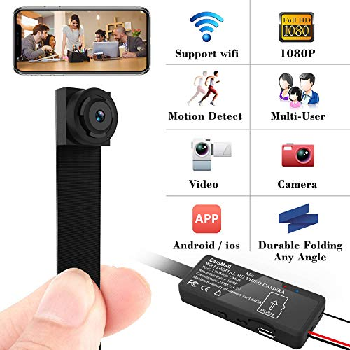 Spy Camera 1080P Hidden Mini Camera Wifi Wireless Small Portable Security Cameras with Motion Detection Indoor Outdoor for Home Office - Portable Video Surveillance