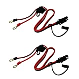 Tetra-Teknica MotoBasics Series RHS-01 12V Ring Terminal Harness with Black Fused 2-Pin Quick Disconnect Plug, 2 Feet, 16 Gauge Copper Wire, 10A Fuse, 2 Per Pack