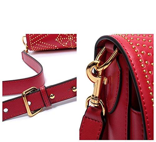 bolsa hombro de de señoras Bolsos las las Bolso de Bolso diseñador del señoras de la de genuino para montar taleguilla totalizador del cuero silla Brown la del la de mano de FFCUw