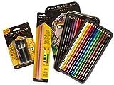 Image of Prismacolor Premier Colored Pencils, Soft Core, 24 Pack (3597T) with 2 Blender Pencils (962) & Pencil Sharpener (1786520)