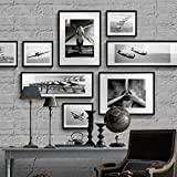 Photo frame Photo frame Collage Photo Wall Paintings Wall Paintings Murals Modern Simple Combinations Landscape Animal Architecture Black and White Seascape (Color : E)
