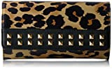 Juicy Couture Leopard Wallet with Gold Chain and Studs, Pitch Black/Leopard