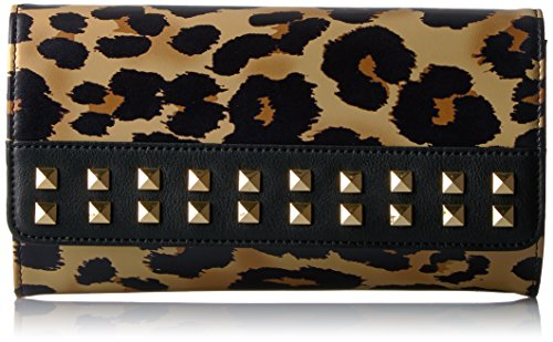 Juicy Couture Leopard Wallet with Gold Chain and Studs, Pitch Black/Leopard by Juicy Couture