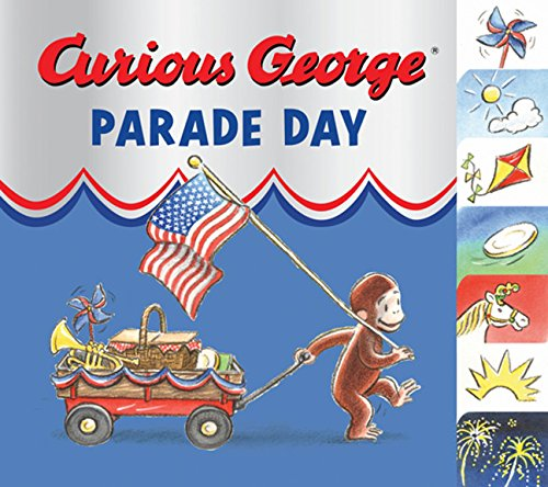 Curious George Parade Day tabbed board -