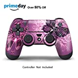 Skins for PS4 Controller - Decals for Playstation 4 Games - Stickers Cover for PS4 Slim Sony Play Station Four Controllers PS4 Pro Accessories PS4 Remote Wireless Dualshock 4 Skin - Lavende Butterfly