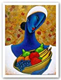 "Indigo with Fruit by LaShun Beal 21.5""x29"" Art Print Poster"