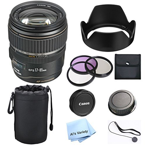 Canon EF-S 17-85mm f/4.5-5.6 IS USM Lens Premium Bundle- International Model