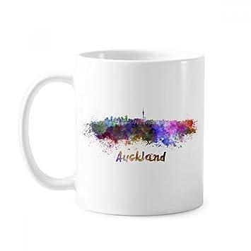 Amazonオークランドニュージーランド地方都市の水彩画のイラスト白陶器