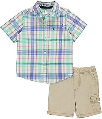Carters Baby Boys Shirt-Cargo Short Set