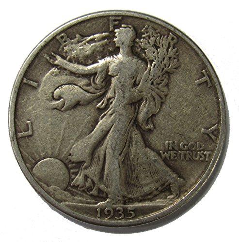 - 1935 D Walking Liberty Half Dollar 50c Very Fine