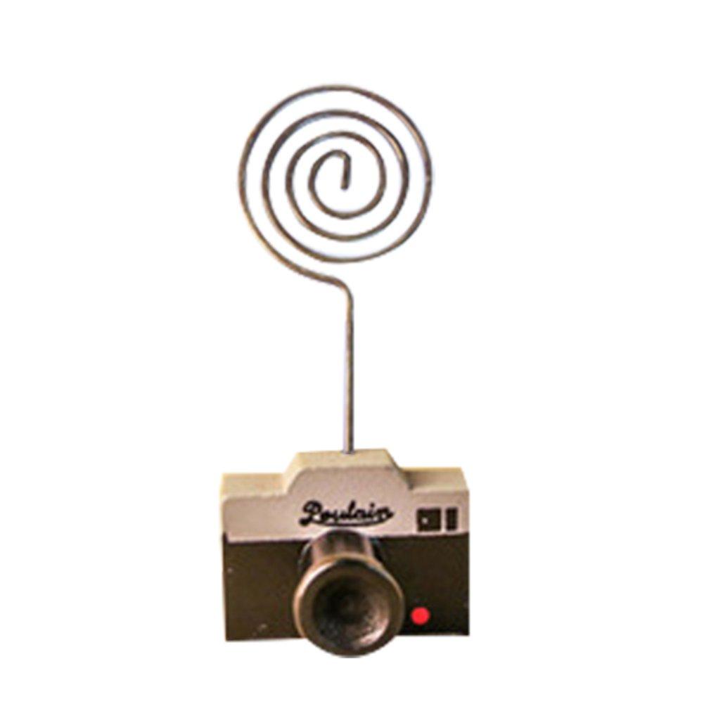 Da.Wa 2 Stück Kameras Stil Foto-Clip Fotohalter Clip Halter Fotokarte Kartenhalter Büroklammer Memo Clip Halter Ständer für Bilder Büroklammer