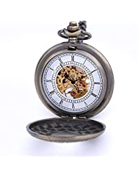 Men's Pocket Watches Mechanical Pocket Watches Vintage Roman Numerals As Xmas