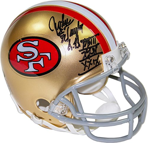 NFL San Francisco 49ers John Taylor Signed Mini Helmet with ''SB XXII XXIV XXIX'' Inscribed by Steiner Sports