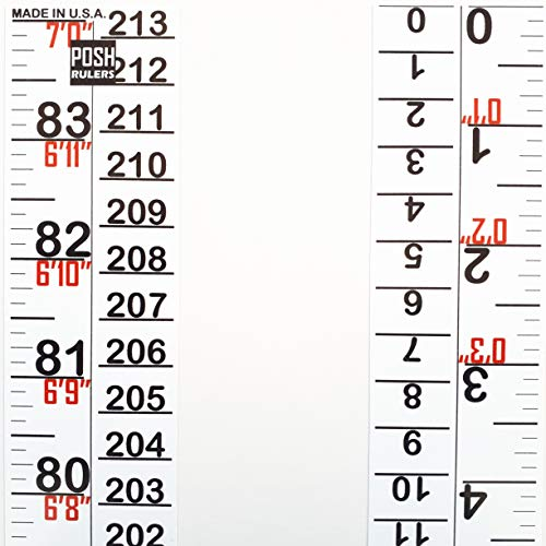 Stickers Measure (Height Indicator Tape Ruler. Made in USA.)