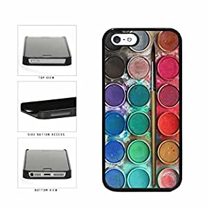 Messy Watercolor Paint Palette Plastic Phone Case Back Cover Apple iPhone 6 4.7 includes diy case Cloth and Warranty Label