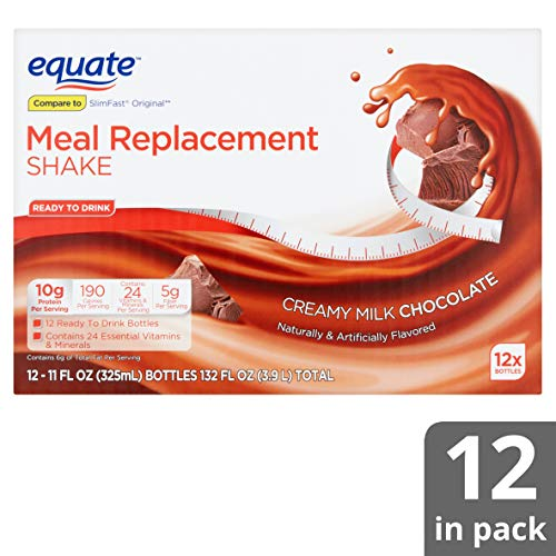 Equate Meal Replacement Shake, Creamy Milk Chocolate, 11 fl oz, 12 Count (Pack of 6) by Equate's (Image #8)