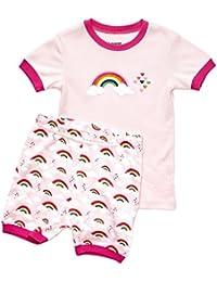 Shorts Girls 2 Piece Pajama Top & Pants 100% Cotton (Size 2 Toddler-10 Years)