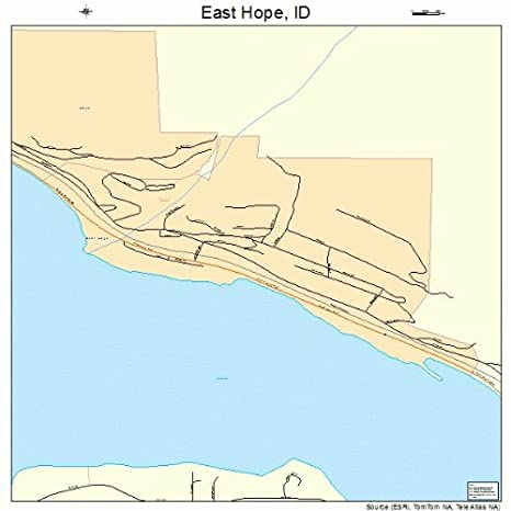 Amazon Com Large Street Road Map Of East Hope Idaho Id Printed
