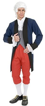 Amazon.com Charades Costumes Menu0027s Ben Franklin Colonial Man Adult Costume Clothing  sc 1 st  Amazon.com & Amazon.com: Charades Costumes Menu0027s Ben Franklin Colonial Man Adult ...