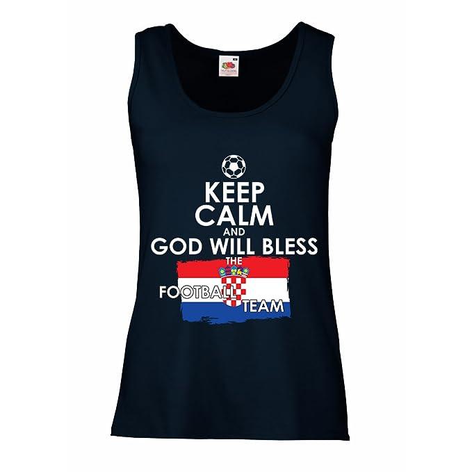 lepni.me Camisetas sin Mangas para Mujer Campeonato Mundial de Fútbol de la Copa Mundial