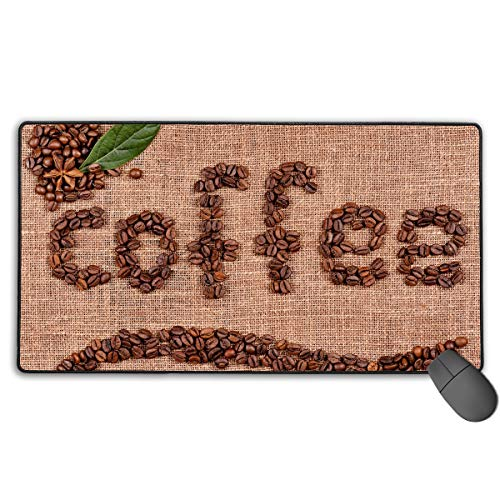 (Extended Gaming Mouse Pad Coffee Creative Beans Art Rectangle Rubber Mousepad 29.53 X 15.75 Inch Anti-Slip XXL Computer)